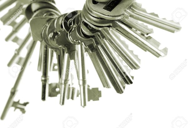 2100876-Assorted-keys-on-keyring-Stock-Photo